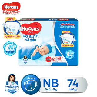 Tã dán sơ sinh Huggies Newborn NB74 - 74 miếng (dưới 5 kg) thumbnail