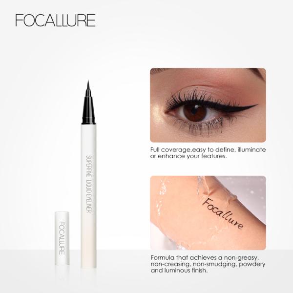 FOCALLURE Bút kẻ mắt không thấm nước bền vững Không nở Kẻ mắt dạng lỏng Trang điểm mắt nhập khẩu