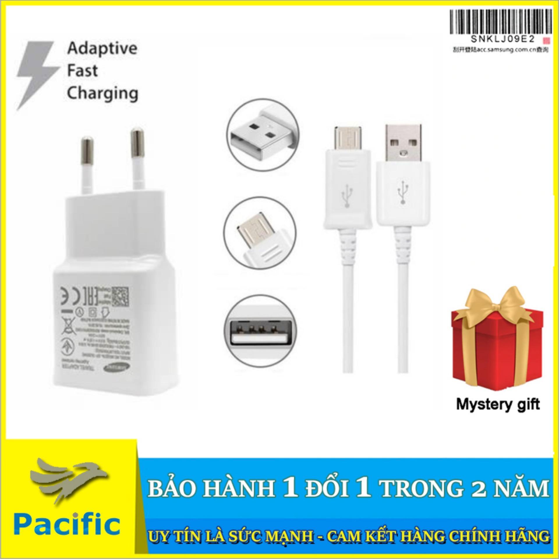 Bộ Cáp Sạc Nhanh Samsung Galaxy Micro USB 2019 NEW for J2, J3, J4, J5, J6, J7 Prime Pro LTE - Tặng Que Chọc Sim Pacific
