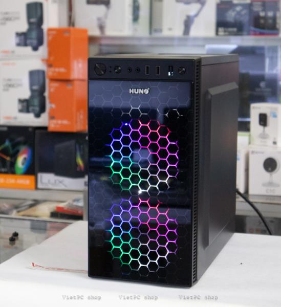 Bảng giá Vỏ case máy tính HUNO + 2 Fan LED RGB Phong Vũ