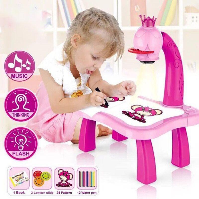 Bộ bàn đèn thông minh chiếu hình tập vẽ cho bé