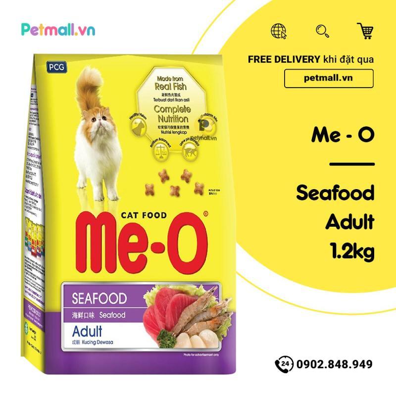Thức ăn hạt cho mèo ME-O Seafood 1.2kg