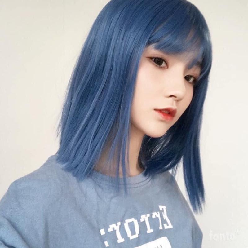 Tự nhuộm tóc màu Xanh blue sky tại nhà, hàng nội địa Việt Nam, không gây hư tổn cho tóc (Trọn bộ tặng gang tay, trợ nhuộm) nhập khẩu