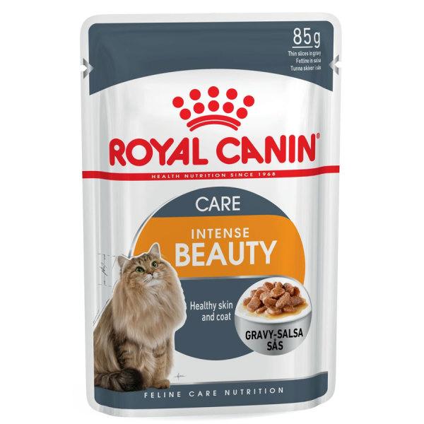Pate Cải thiện Lông Cho Mèo Lớn Royal Canin Intense Beauty Gravy (Túi 85g)