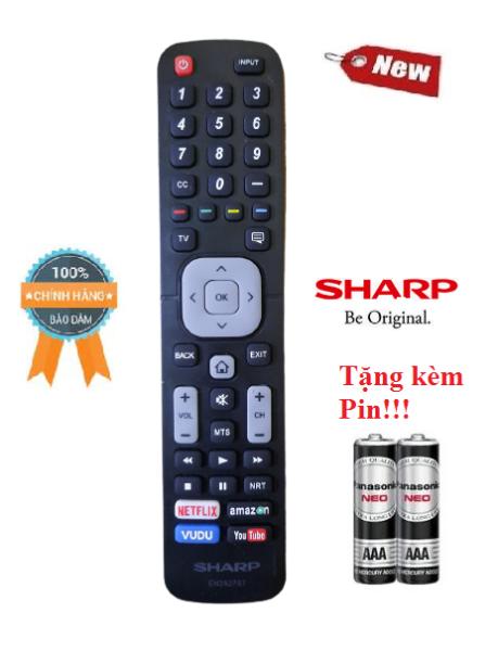 Bảng giá Điều khiển tivi Sharp EN2A27ST- Hàng mới chính hãng 100% Tặng kèm Pin!!!