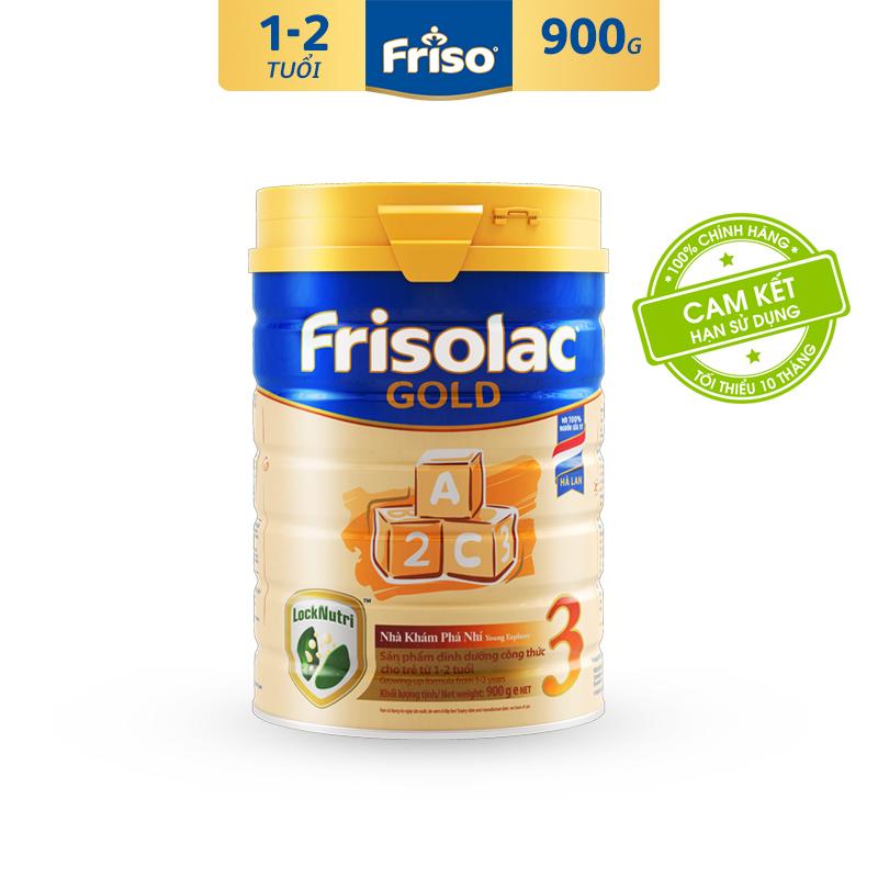 [Freeship toàn quốc] Sữa Bột Friso Gold 3 900g cho trẻ từ 1-2 tuổi - Cam kết HSD ít nhất 10 tháng - Tốt cho tiêu hóa & đề kháng tốt, giúp bé khỏe mạnh từ bên trong, thỏa sức khám phá để phát triển toàn diện
