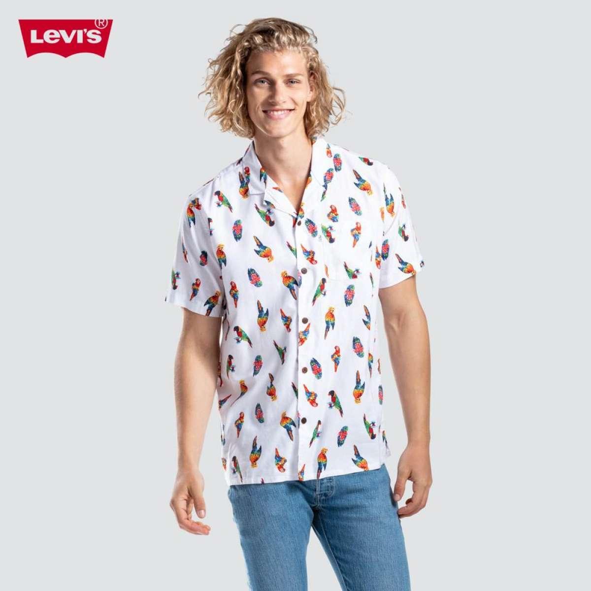 LEVIS ÁO SƠ MI NAM TAY NGẮN HỌA TIẾT NHIỆT ĐỚI DÁNG SUÔNG TRẺ TRUNG - Camper Shirt / 21976-0006