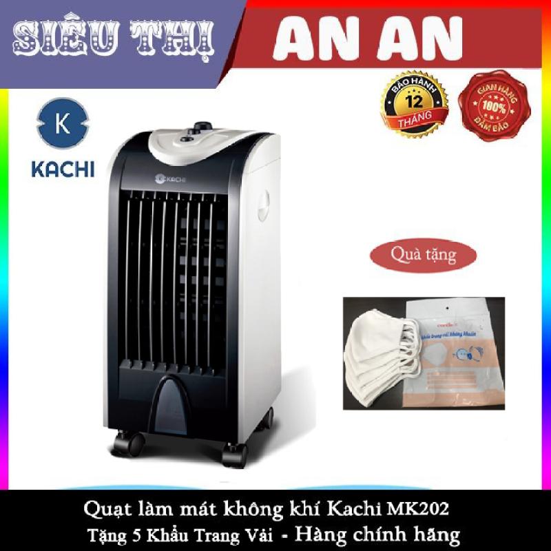 Quạt Hơi Nước làm mát, quạt lạnh KACHI MK202 75w Kèm 2 Viên Đá khô Tặng 5 khẩu trang kháng khuẩn bảo hành 12 tháng model 2020