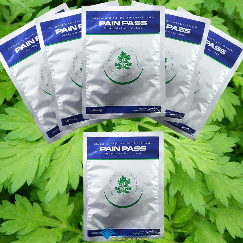 Bộ 5 Miếng dán thảo dược chống đau Pain Pass tặng 1 miếng cùng loại nhập khẩu