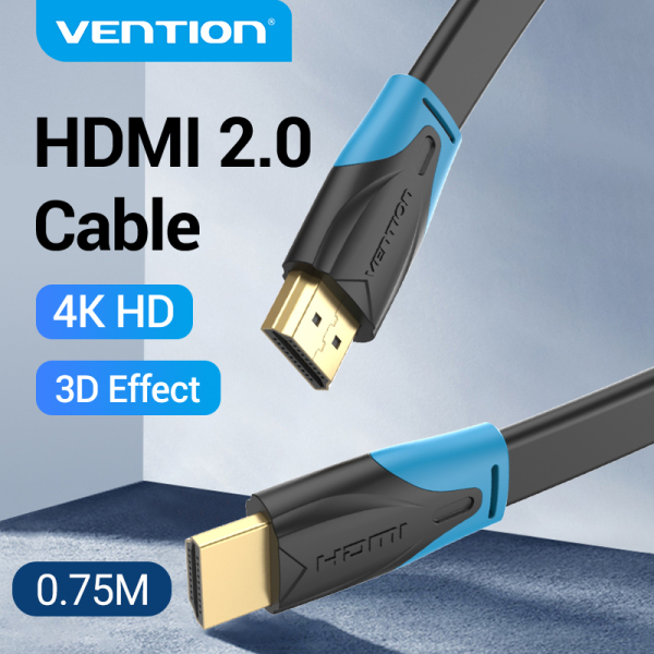 Vention dây cáp dẹt HDMI 2.0 4K 60Hz HDMI 2.0 Ethernet Adapter flat line cáp HDMI kết nối tivi 1M 2M 3M 5M 10M For Laptop HDTV LCD Projector HDMI 2.0 4K Cable
