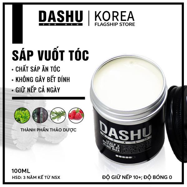 Sáp vuốt tóc nam tạo kiểu Hàn Quốc cao cấp Dashu scalp X phyton 87 hard 100ml, wax hair Made in Korea bổ sung thêm nhiều thảo dược và thực vật từ tự nhiên giúp dưỡng tóc, bảo vệ da đầu, dùng tốt cho mọi loại tóc.