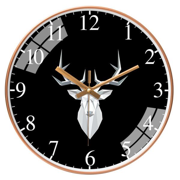Đồng hồ treo tường kim trôi họa tiết sang trọng cao cấp bán chạy
