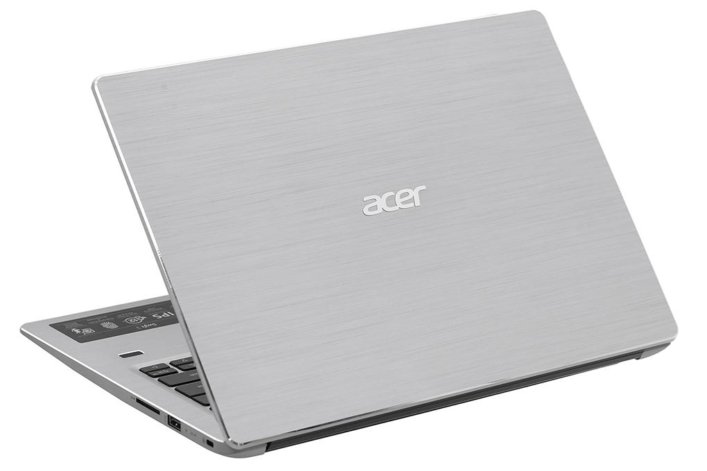 Laptop Acer Swift 3 SF314-56G-78QS, Core i7-8565U/1.80 GHz/8MB/2x4GBRAM/512GBSSD/GF MX250 2GB/14 FHDIPS/Webcam/Wlan ac +BT/Finger/4cell/Win 10 Home/Bạc /Sparkly Silver/1Y WTY_NX.HAQSV.001 - Hàng chính hãng
