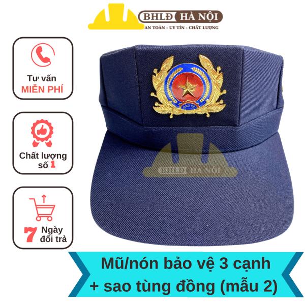 Mũ/Nón bảo vệ 3 cạnh + sao đồng (mẫu 2)