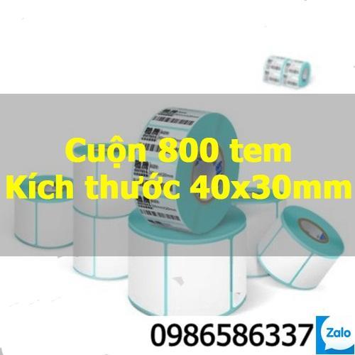 Tem mã vạch in nhiệt không cần dùng mực cỡ 2x1 3x2  4x3 4x6 4x7 5x34x2 giấy nhãn decal thông tin dán lên sản phẩm