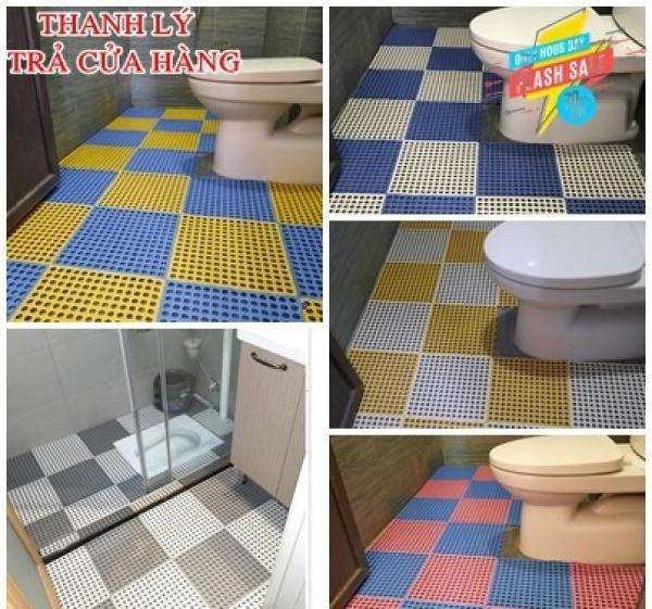 Tấm thảm nhựa ghép chống trơn kháng khuẩn , chống trơn nhà tắm ,nhà vệ sinh