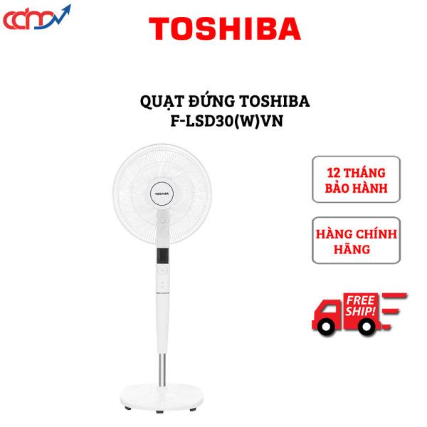 Quạt đứng Toshiba F-LSD30(W)VN có khiển - Hàng chính hãng - Công nghệ DC Inverter tiết kiệm đến 70% điện năng