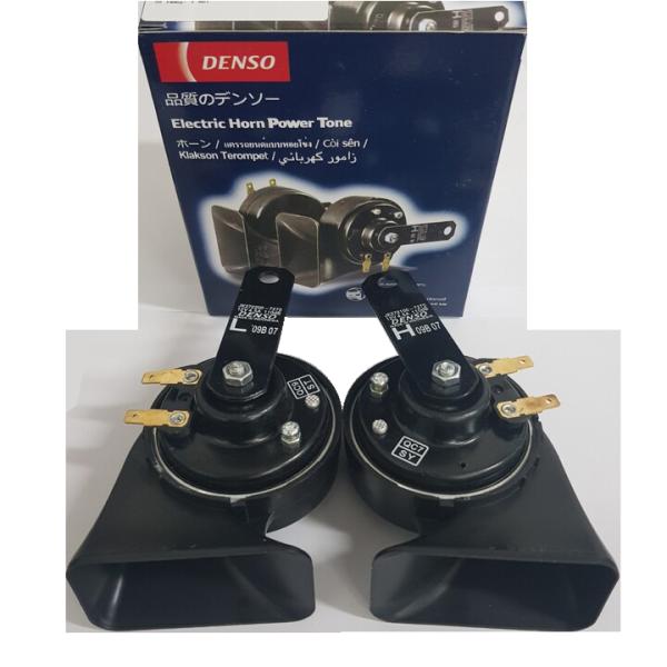 Bộ 2 còi sên dùng cho ô tô, xe hơi DEN.SO DS-JK272 chống nước 12V, 110db