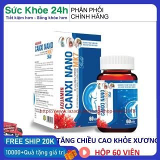 Canxi nano D3 K2 MK7 giúp xương chắc khỏe giúp trẻ phát triển chống còi xương dành cho bà mẹ mang thai cho con bú hộp 60 viên đạt chuẩn GPP thumbnail