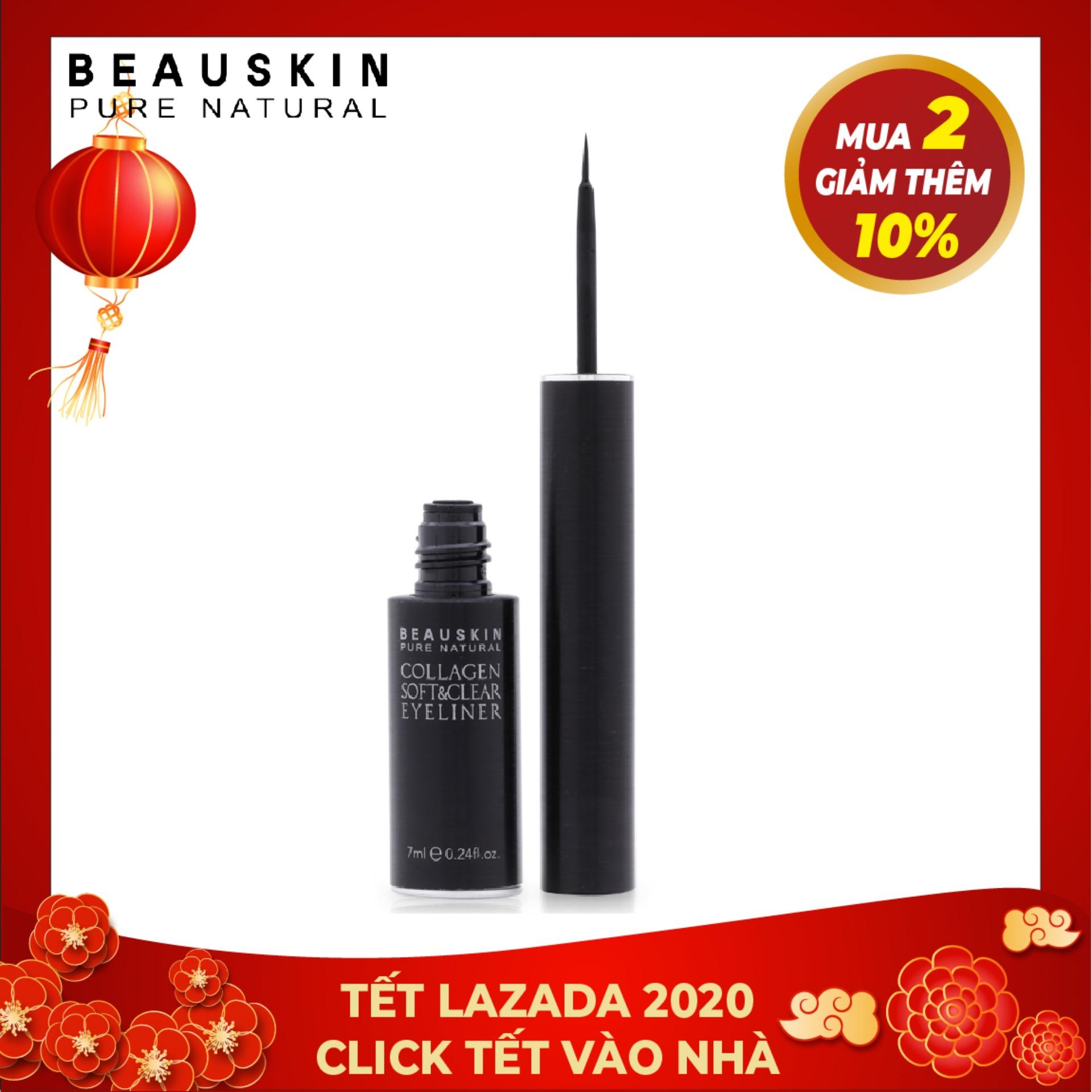 Kẻ mắt nước dưỡng mi không lem Beauskin Collagen Soft & Clear Eyeliner (Đen)