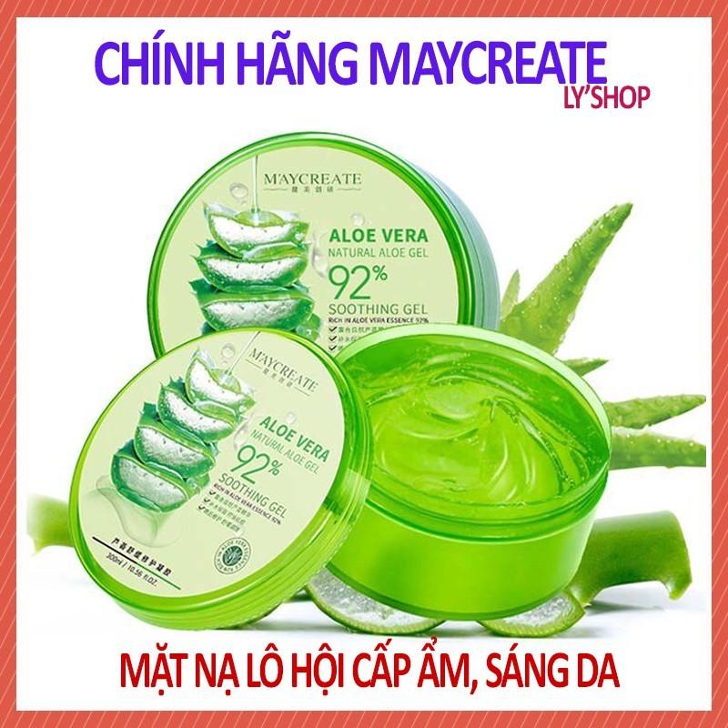 Gel Lô Hội cấp ẩm Maycreate Aloe Vera Soothing 98% giá rẻ