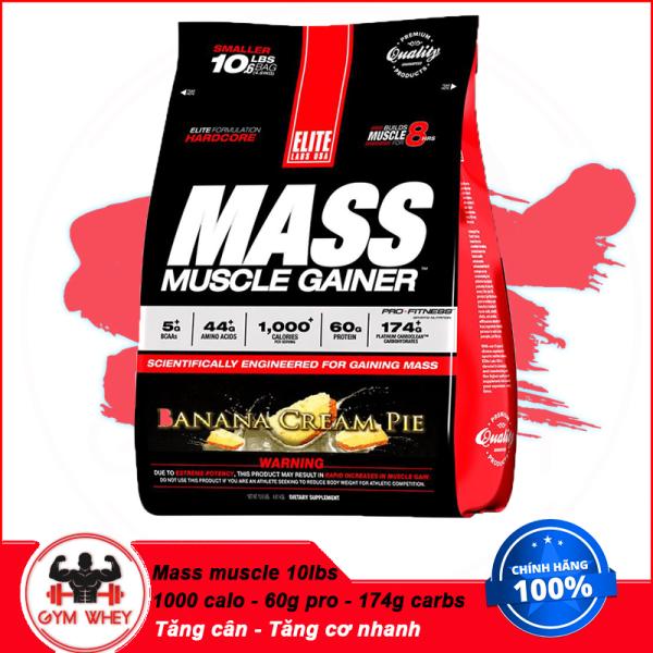 [HCM][Lấy mã giảm thêm 30%]Sữa Tăng Cân Tăng Cơ Elite Labs Mass Muscle Gainer - 10LBS cao cấp