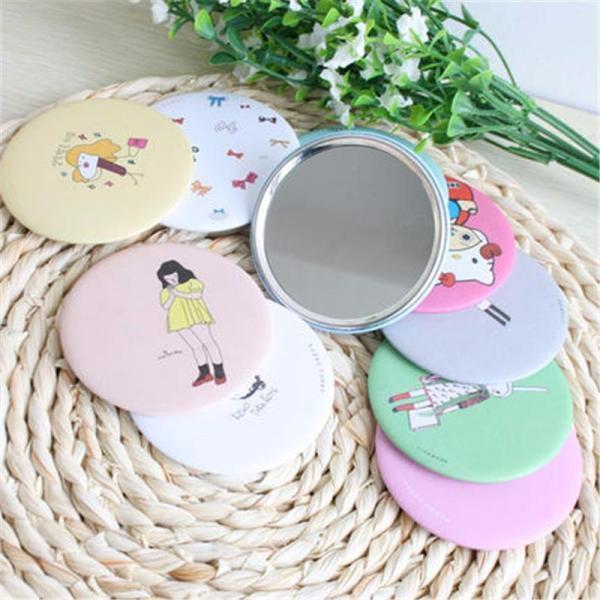 Combo 100 Gương cầm tay mini phong cách Hàn Quốc-Combo 100 cái Gương cầm tay mini (Màu ngẫu nhiên)