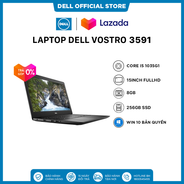 Bảng giá [SIÊU SALE VẪN NHIỆT_TRẢ GÓP 0%]Laptop Dell Vostro 3591 Core i5 1035G1  15inch FullHD   Ram 8GB   256GB SSD   DVDRW   Win 10 Bản Quyền Phong Vũ