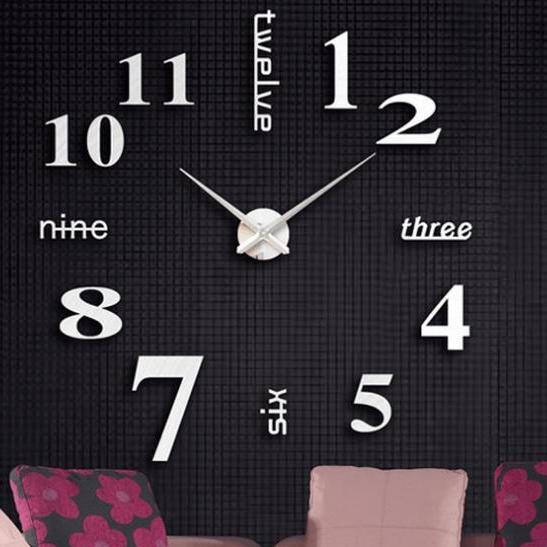Nơi bán Đồng hồ treo tường - đồng hồ dán tường cỡ lớn 90x90 đến 120x120 - DH072