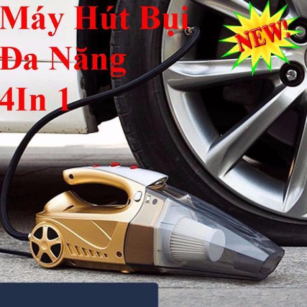 Máy Bơm Lốp Ôtô Mini - Máy Hút Bụi Kiêm Bơm Lốp Ô Tô 4 in 1, Máy Hút Bụi Bản Tiếng Anh Cao Cấp ,Máy Hút Bụi Ô Tô Công Xuất 120W Mini, Máy Hút Bụi , Bơm Lốp, Đèn Pin , Đo Áp Suất Lốp Khi Bơm Hơi Đủ Kg cho Mọi Ôtô