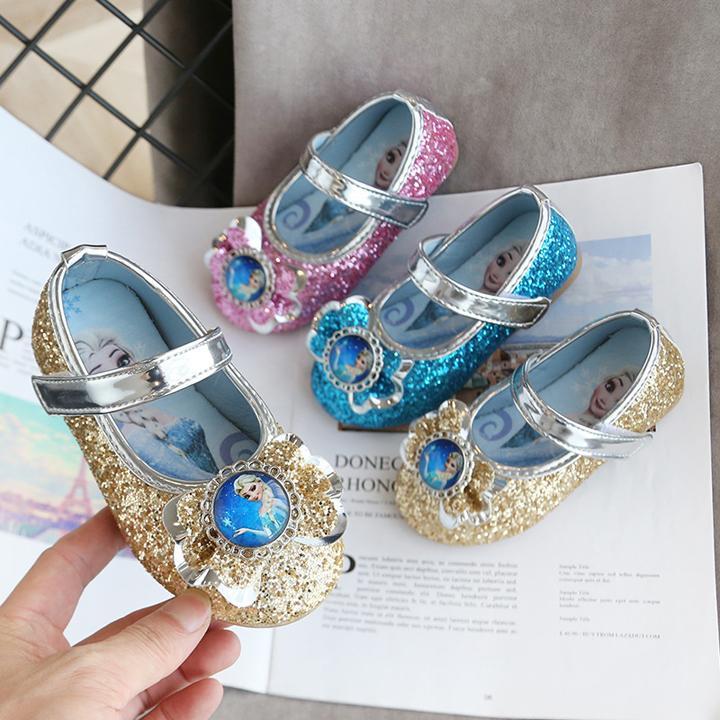 Giá bán Giày búp bê công chúa Elsa cho bé gái phong cách Hàn Quốc