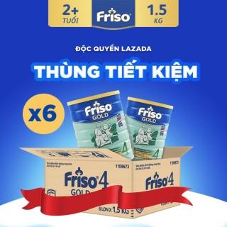 [Trợ ship toàn quốc] 6 lon Sữa Bột Friso Gold 4 1.5kg cho trẻ từ 2-4 tuổi thumbnail