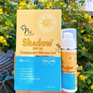 Gel chống nắng Fixderma cho da mụn nhạy cảm Fixderma Shadow SPF 30 Transparent Silicone thumbnail