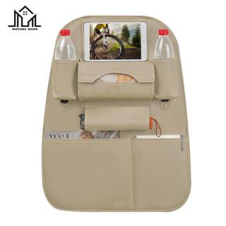 Multifunctional Car Pocket PU Leather Car Seat Back Storage Bag Mobile Phone Tablet Holder thumbnail