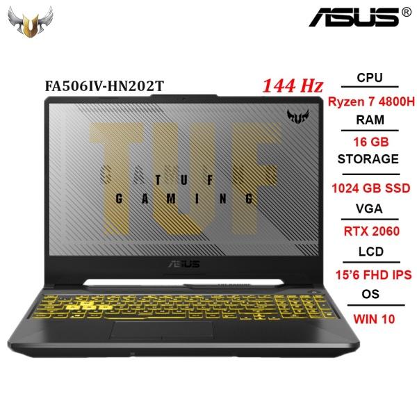 Bảng giá Laptop ASUS TUF A15 FA506IV-HN202T AMD R7-4800H | 16GB | SSD 1024GB | RTX 2060 6GB | 15.6 FHD IPS 144Hz | Win 10 Phong Vũ
