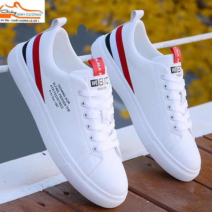 Giày thể thao nam độn đế 6cm- giày sneaker thể thao nam-  giày nam thể thao trắng Hottrend