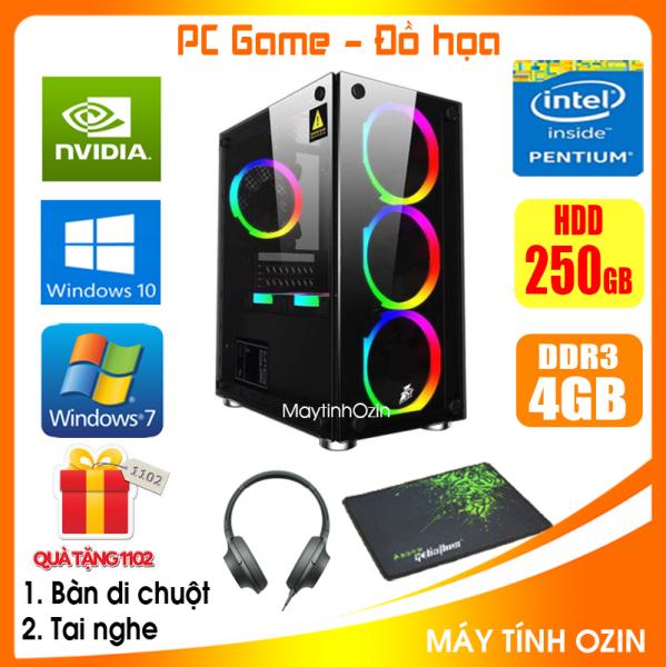 Bảng giá Case PC Game LED CPU Dual Core E7/8xxx / i3-2100 / Ram 4GB-8GB / HDD 250GB - SSD 120GB / VGA 1GB - 2GB chơi PUBG mobile, PUBG lite, LOL, CF đột kích, Fifa, Cs Go, AOE ... + [QÙA TẶNG: Tai nghe + Bàn di chuột] GAI32 - OZ Phong Vũ