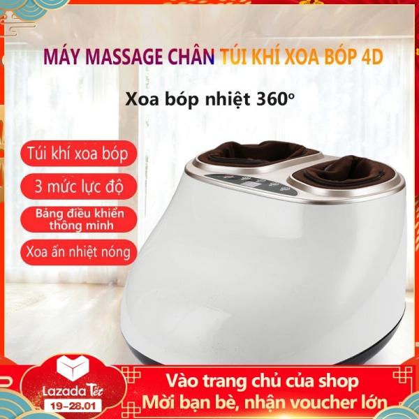 Máy massage chân mát xa chân xoa bóp chân đa năng túi khí bao bọc, máy mát xa màu trắng và hồng đất Điện máy bé XANH