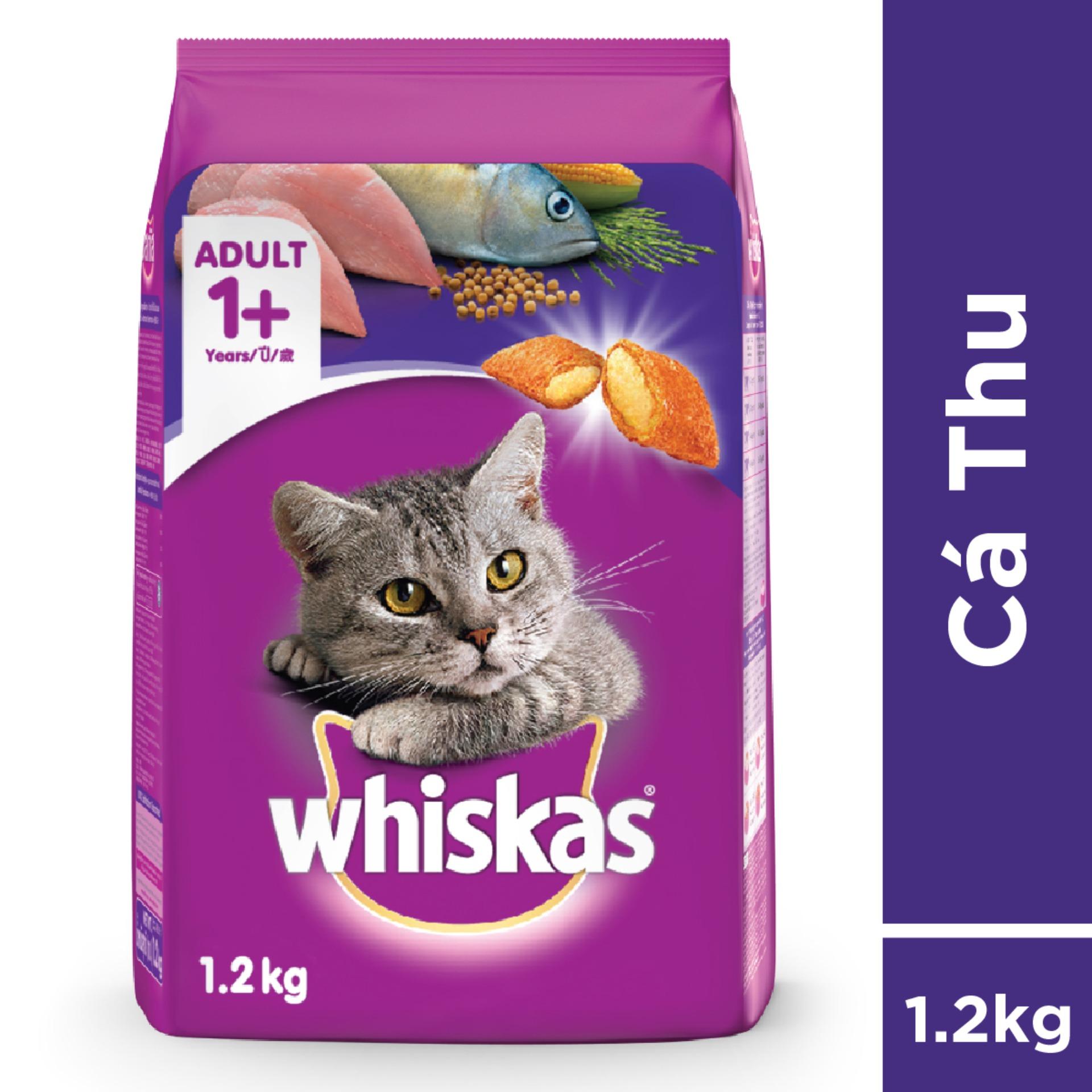 Thức ăn Mèo Whiskas Vị Cá Thu Túi 1.2kg Giá Rẻ Bất Ngờ