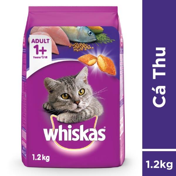 Thức ăn mèo Whiskas vị cá thu túi 1.2kg