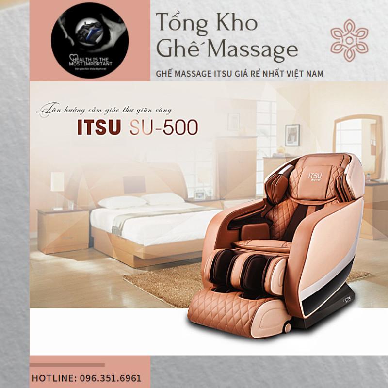 [ ITSU VERSION 2021] Ghế massage ITSU SU-500 liên động tự động massage toàn thân thời thượng quý phái trị liệu Nhật Bản