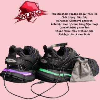 (Xả Kho 3 Ngày) GIẦY THỂ THAO SNEAKERS NAM NỮ BA LEN TRACK LED MÀU FULL ĐEN tại shop Ruby Sneaker thumbnail