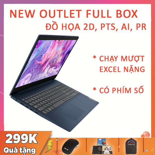 Bảng giá (NEW OUTLET FULLBOX) Lenovo IdeaPad 3 15ADA05 Blue, Có Phím Số, Chuyên Excel Nặng, R5-3500U, RAM 8G, SSD NVMe 256G, VGA AMD Vega 8, Màn 15.6 FullHD Viền Siêu Mỏng Phong Vũ