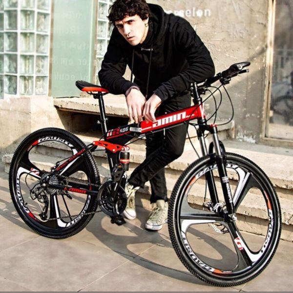 Phân phối Xe đạp gấp thể thao, leo núi 26 icnh( khung thép cacbon cao cấp)