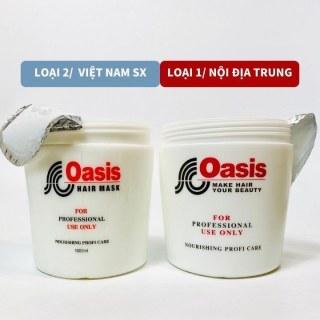 Kem hấp tóc ủ tóc OASIS 1000ML loại 1 đặc như sáp xả tóc giúp tóc mềm mượt không bết tóc rụng tóc thumbnail