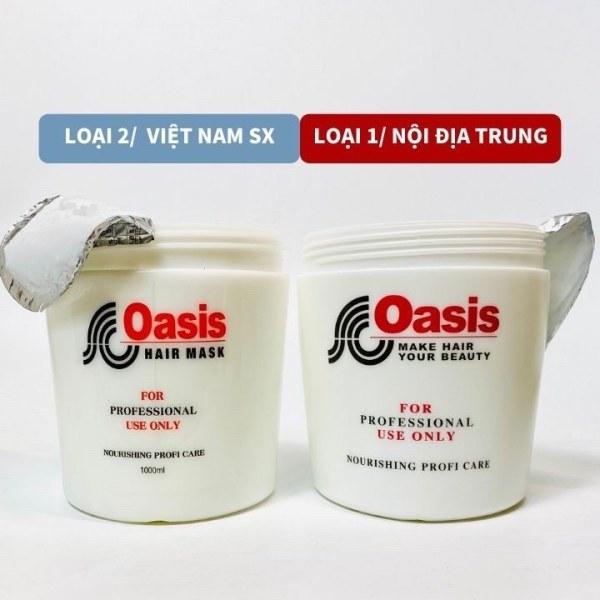 Kem hấp tóc ủ tóc OASIS 1000ML loại 1 đặc như sáp xả tóc giúp tóc mềm mượt không bết tóc rụng tóc
