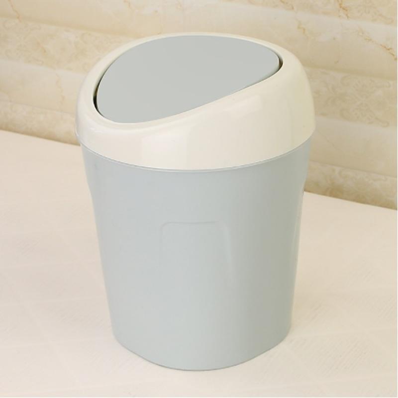 Thùng rác mini để bàn nắp lật