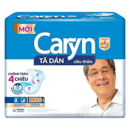Tã DÁN Caryn M20 MẪU MỚI 4 chiều chống tràn_vòng bụng 65-80cm