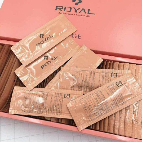 Hộp 90 gói tinh chất Serum Nhau Thai Cuống Rốn Hoang Gia Royal dưỡng da cấp ẩm thải độc