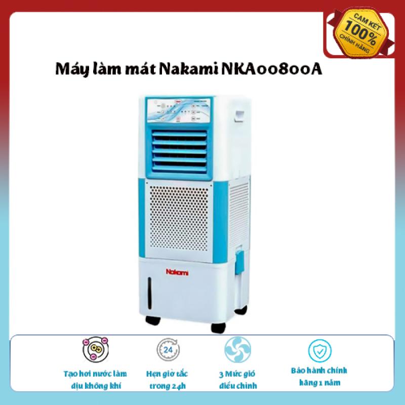Máy làm mát Nakami NKA00800A-Loại quạt: Quạt điều hòa , Làm mát, Tạo hơi nước làm dịu không khí,Tốc độ gió: 3 mức